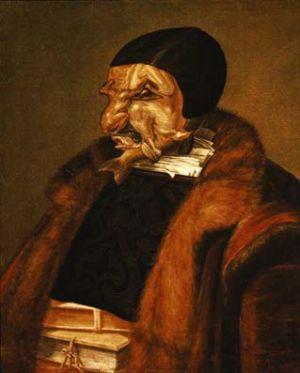 Giuseppe Archimboldo - Juristul (ulei panza 1566) Muzeu Stockholm