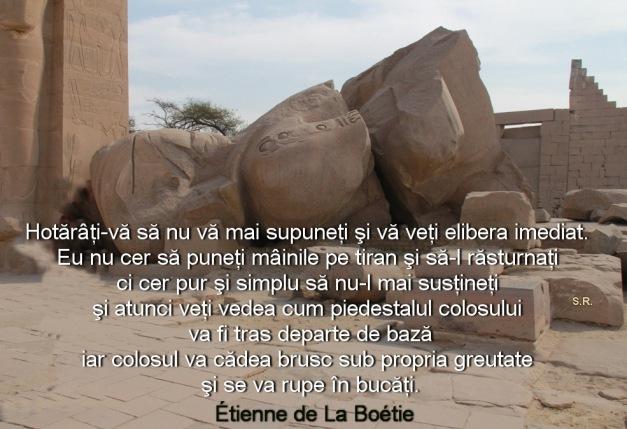 Caderea colosului egiptean