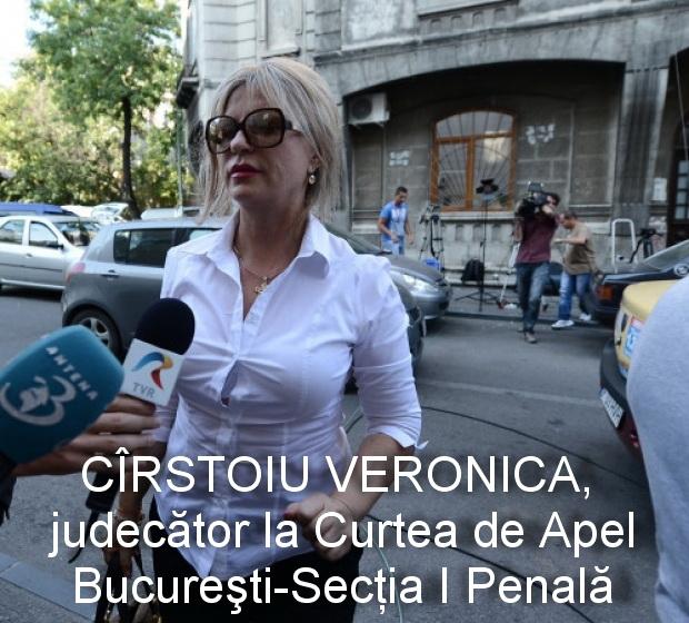 judecatoarea CÎRSTOIU VERONICA