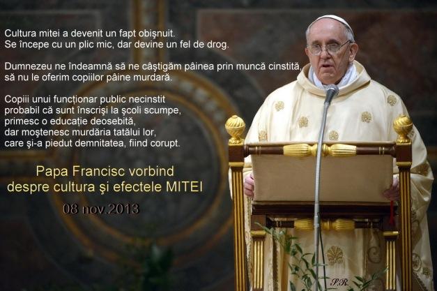 Papa_FRANCISC despre mita