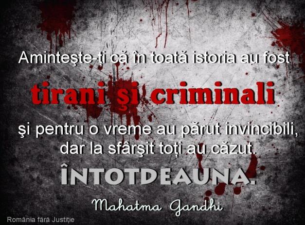 Tirani si criminali vincibili