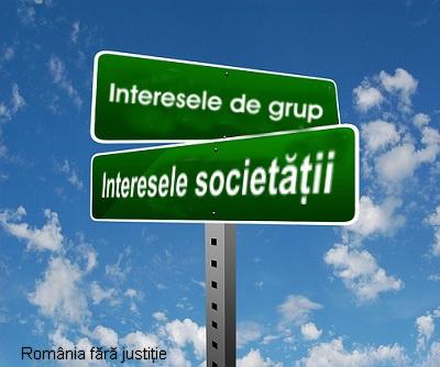 Interese de grup vs interesele societatii