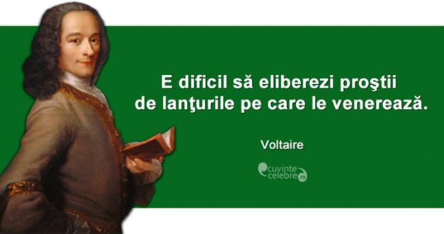 Voltaire si prostii