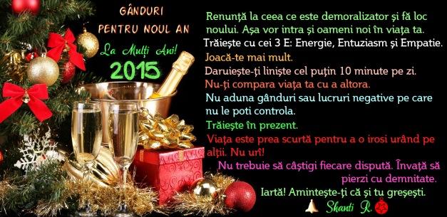 Ganduri pentru 2015