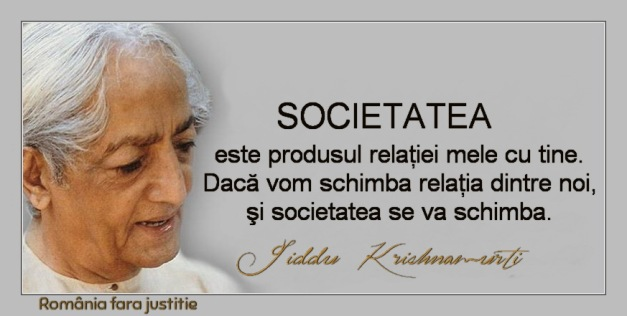 krishnamurti despre societate
