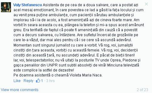 Mesaj Valy Stefanescu