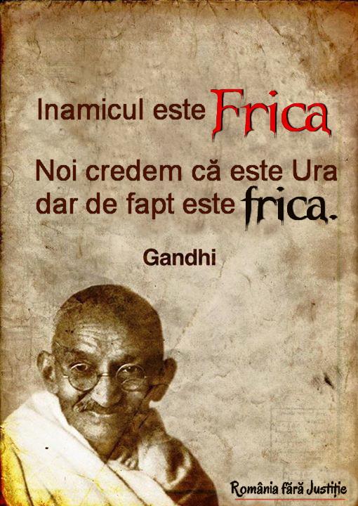 Gandhi despre firca
