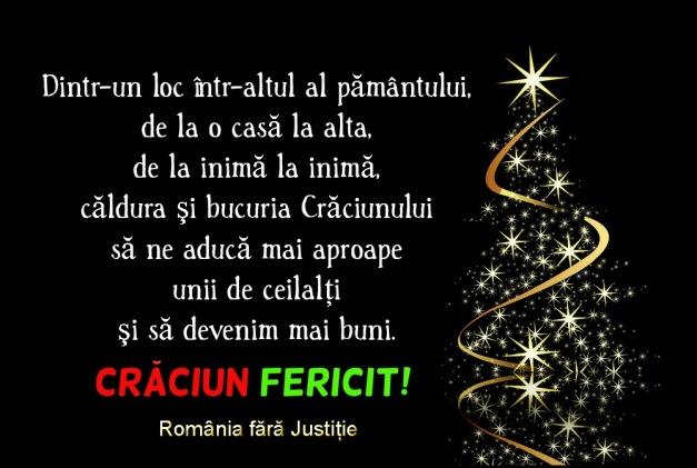 Romania fara justitie mesaj Craciun